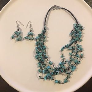 Earrings and matching necklace